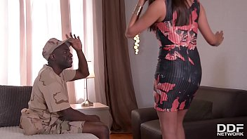 thumb Soldier Returns From Battle And Crams His Black Dick Into Wife Anissa Kate
