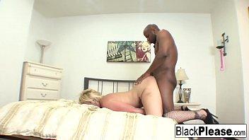 Blonde hottie Kelli Staxxx takes black cock in her tight ass!