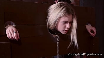 Young Anal Tryo uts   Sweet Blonde Goes Down I nde Goes Down Into The Dungeon