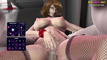 Horny 3d animation blonde girl facialized by a...