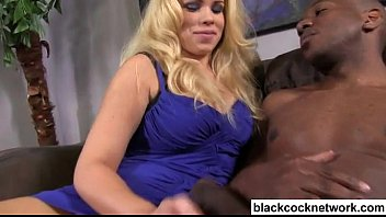 Dumb blonde falls in love with black cock thumbnail