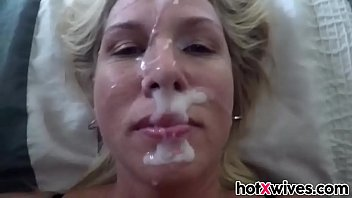 Blonde Wife Get s Facialized