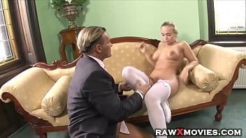 Schoolgirl takes her teachers big cock from behind