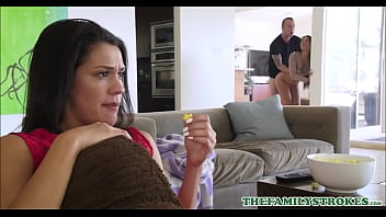 Sexy Latina Teen Stepsister Maya Bijou And Her Stepbrother Fuck In Front Of Mom During A Scary Movie