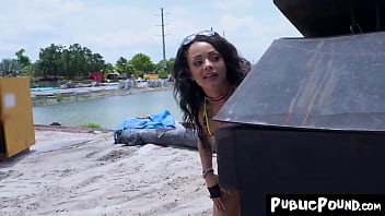 thumb Hottest Petite Holly Hendrix Ass Railed In Public
