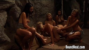 Lesbian Orgy With Strapons And Horny Wet Pussies