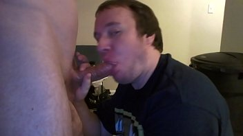 Sucking a big cut cock plus cumshot