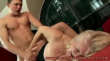 Hot horny blonde granny nailed hard