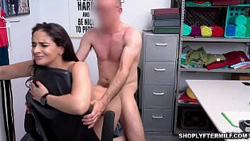 Sex With A Hot Brunette Sweet Fuck On The Chair