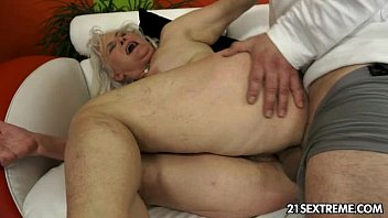 The old Romanian girl fucks In devils With Two Men With Big Cock