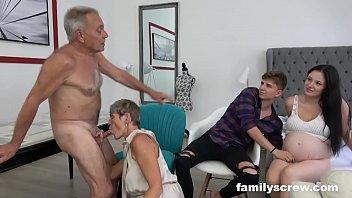 Pregnant Maid watching Family Fuck thumbnail