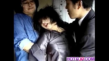 Japanese milf has hairy crack roughly screwed by two dudes - XVIDEOS.COM