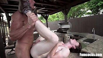 Dad Teaches Son Yoga For His Cock
