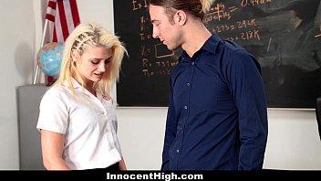 InnocentHigh - Petite Schoolgirl (Aubrey Gold) Loves Her Teacher'_s Dick