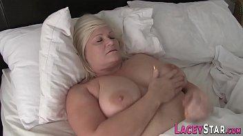British grandma in interracial threesome