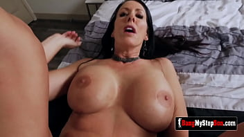 Reagan Fox perverted horny milf cant look away from her stepson