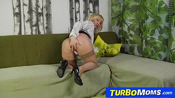 Russian Stockings Madame Olga Fucked By A Young Male
