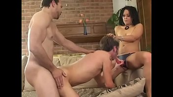 Threesome with a bisexual guy and a horny babe Felony Sin