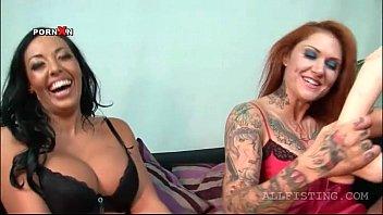 Choco tempting lesbian gets hot boobs oiled