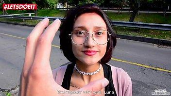 Tiny Latina Teen picked and fucked by Big Black Cock