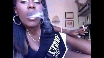 fetish smoking with an ebony Godess