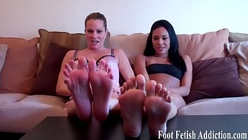 We love it when you worship our feet