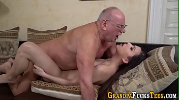 A Pensioner Was Being Filmed As He Fucks A Brunette Teen