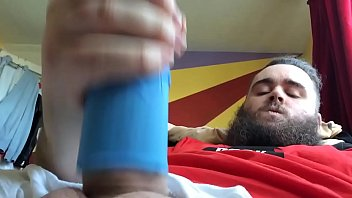 Wanking With A Home Made Fleshlight (DIY) cumshot soloboy