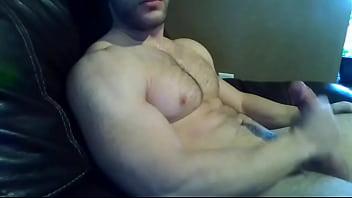 modelo gay guapo se masturba vídeo