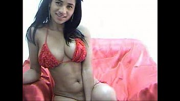 Sexy busty brunette on cam