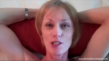 Sexy MILF slapping her big tits on webcam