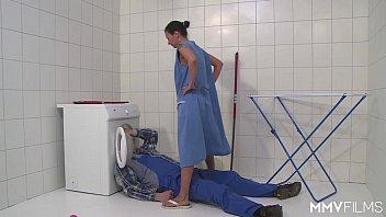 MMV FILMS German Mom draining the plumber  #1226237