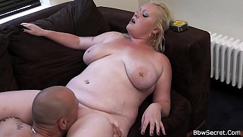 Husband cheating with busty blonde woman