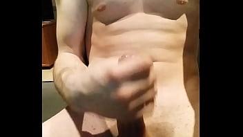 Hot amateur boy masturbates dick on porn...