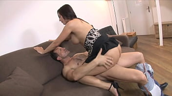 Brunette MILF Getting Facialized Pussy, Mouth, Ass