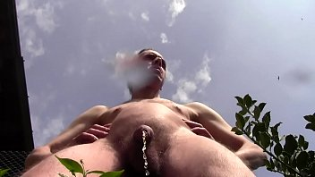 Sensational danger and huge piss outdoor in public...