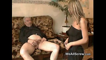 Old men being wanked