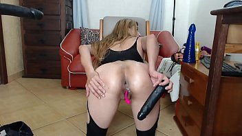 Latina dildo anal fuck and gape