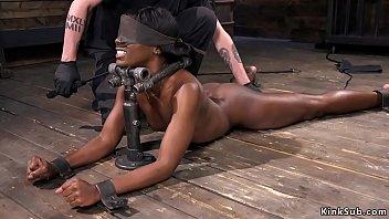 xxarxx Ebony in device bondage fucked