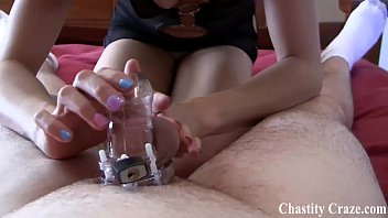 Locked in chastity and teased mercilessly