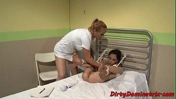 MARISOL: Tormented sub babe toyed by lezdom nurse