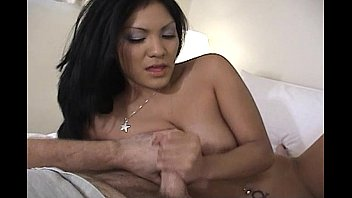 Gorgeous Asian Beauty Doing A Perfect Handjob