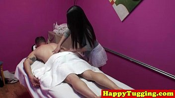 thumb Real Asian Masseuse Jerking Dick