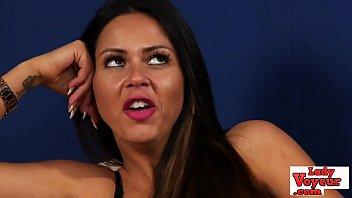 Streaming Video Lingerie babe humiliates masturbating loser - XLXX.video