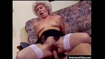 Grandson can&#039_t believe his grandmother is so damn horny