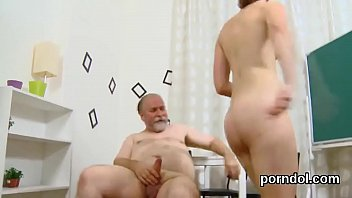 Cuddly college girl is seduced and drilled by her older teacher