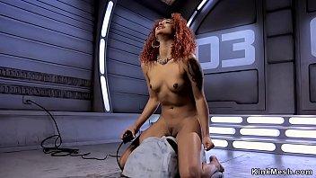 Hardcore/insertion/sybian ebony vibrator alien rides
