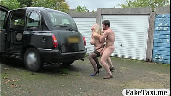 Busty female driver fucked by passenger