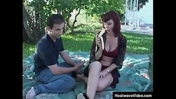 Clever young dude has the right idea - he will take this mature bitch out to a picnic and fuck her