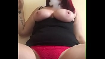 Busty Redhead smoking selfie tease bit.do/d5CV2